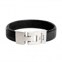 Leather Bracelet Black Marco Black
