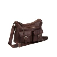 Leather Shoulder Bag Brown Tessa Brown