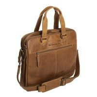 Leather Laptop Bag Cognac Jovi Cognac