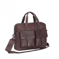 Leather Laptop Back Brown George Brown