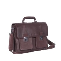 Leather Shoulder Bag Brown Mario Brown