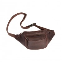 Leather Waist Pack Brown Jack Brown