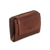 Leather Wallet Black Label Cognac Aurora Cognac