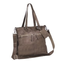 Leren Shopper Taupe Cleo Taupe