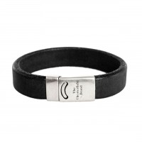 Leather Bracelet Black Thor Black