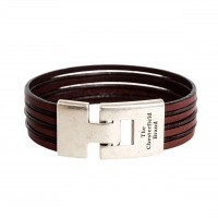 Leather Bracelet Brown Elvis Brown