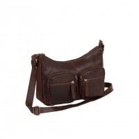 Leather Shoulder Bag Brown Victoria Brown