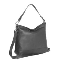 Leather Shoulder Bag Black Amelia Black