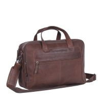 Leather Laptop Bag Brown Ryan Brown