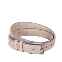 Leather Belt Levi Beige Beige