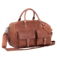 Leather Weekender Cognac Wesley Cognac