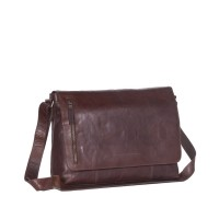 Leather Shoulder Bag Brown Maha Brown