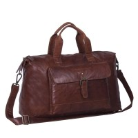 Leather Weekend Bag Cognac Maeryn Cognac