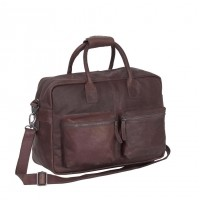 Leather Shoulder Bag Brown Yasmin Brown