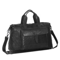 Leather Weekend Bag Black Maeryn Black
