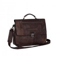 Leather Briefcase Brown Matthew Brown