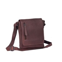 Leather Shoulder Bag Brown Kian Brown