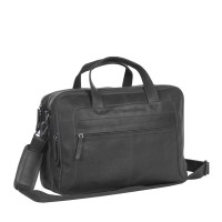 Leather Laptop Bag Black Ryan Black