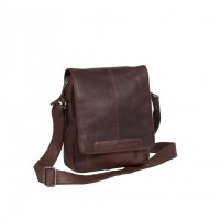 Leather Shoulder Bag Brown Remy Brown