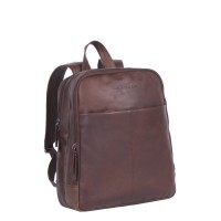 Leather Backpack Brown Dex Brown