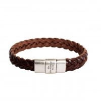 Leather Bracelet Brown Java Brown