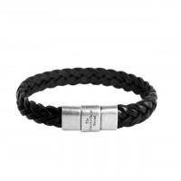 Leather Bracelet Black Java Black
