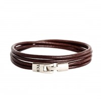 Leather Bracelet Brown Trusci Brown