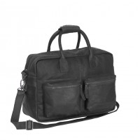 Leather Shoulder Bag Black Yasmin Black