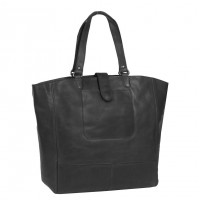 Leather Shopper Black Jaimy Black