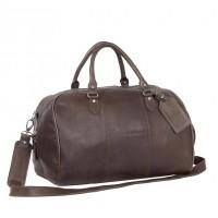 Leather Weekend Bag Brown Liam Brown