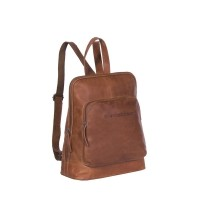Leather Backpack Cognac Naomi Cognac