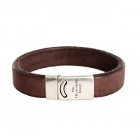 Leather Bracelet Brown Thor Brown