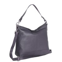 Leather Shoulder Bag Navy Amelia Navy