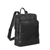 Leather Backpack Black Mack Black