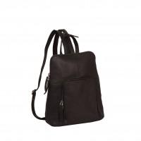 Leather Backpack Brown Vivian Brown