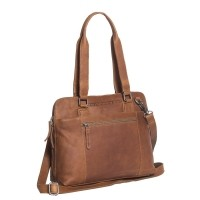 Leather Shoulder Bag Cognac Cara Cognac