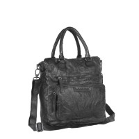 Leather Shopper Bag Black Romy Black