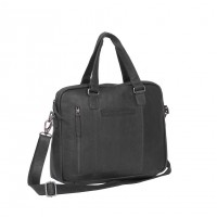Leather Laptop Bag Black Maria Black