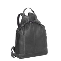 Leather Backpack Black Nuri Black