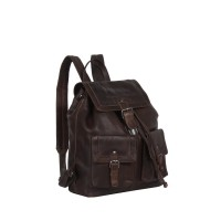 Leather Backpack Brown Joey Brown