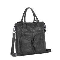 Leather Shopper Anthracite Olivia Anthracite