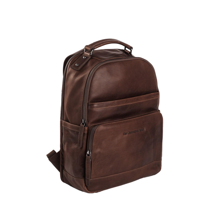 Imagen de Chesterfield Leather Backpack Brown Austin
