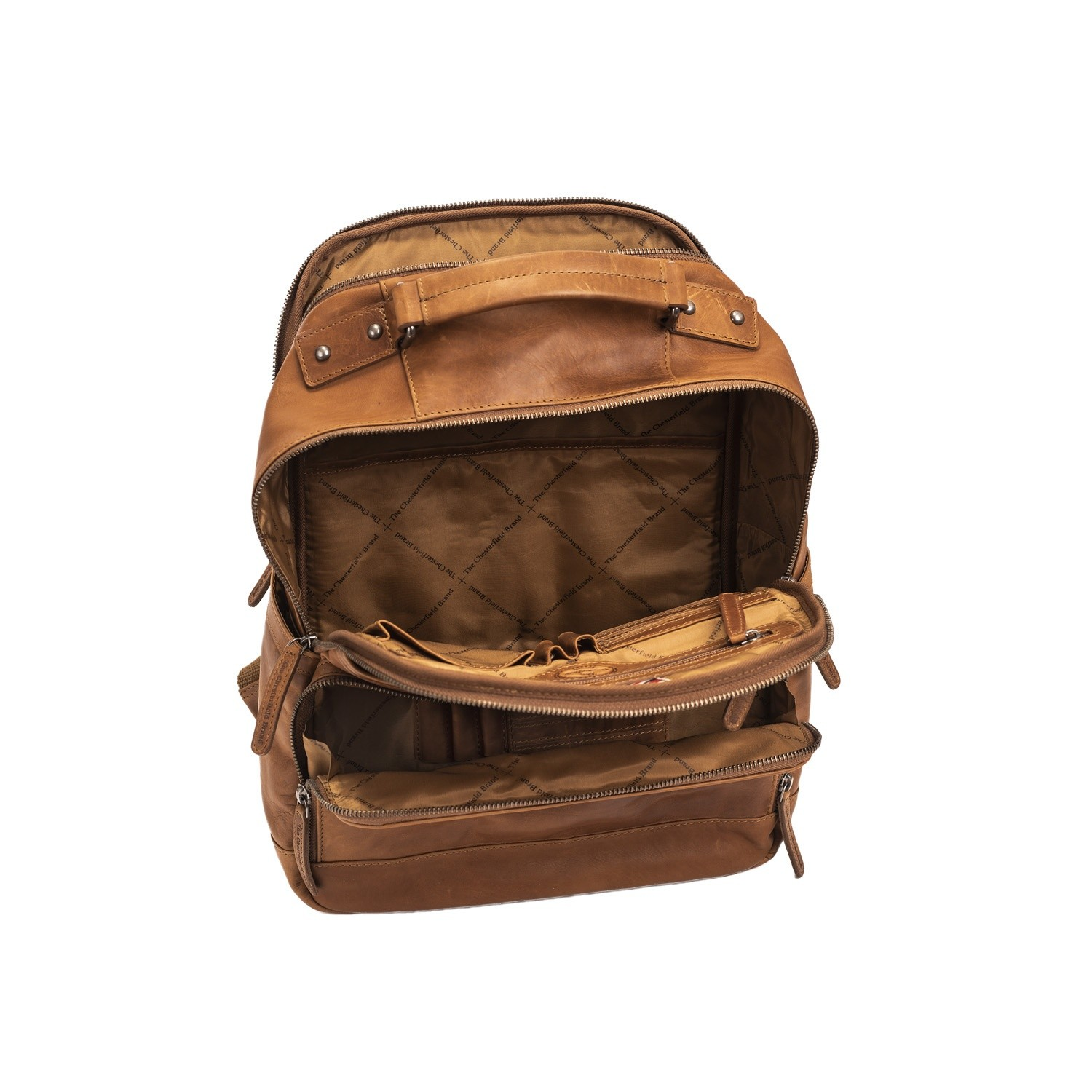 f4b6472ee5743 Image of Leather Backpack Cognac Austin