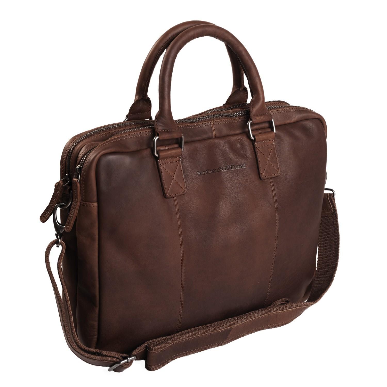Imagem de Chesterfield Leather Laptop Bag Brown Floris