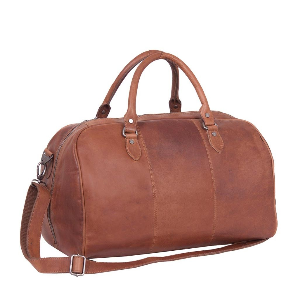 386340175be0 Image of Leather Weekend Bag Cognac Liam