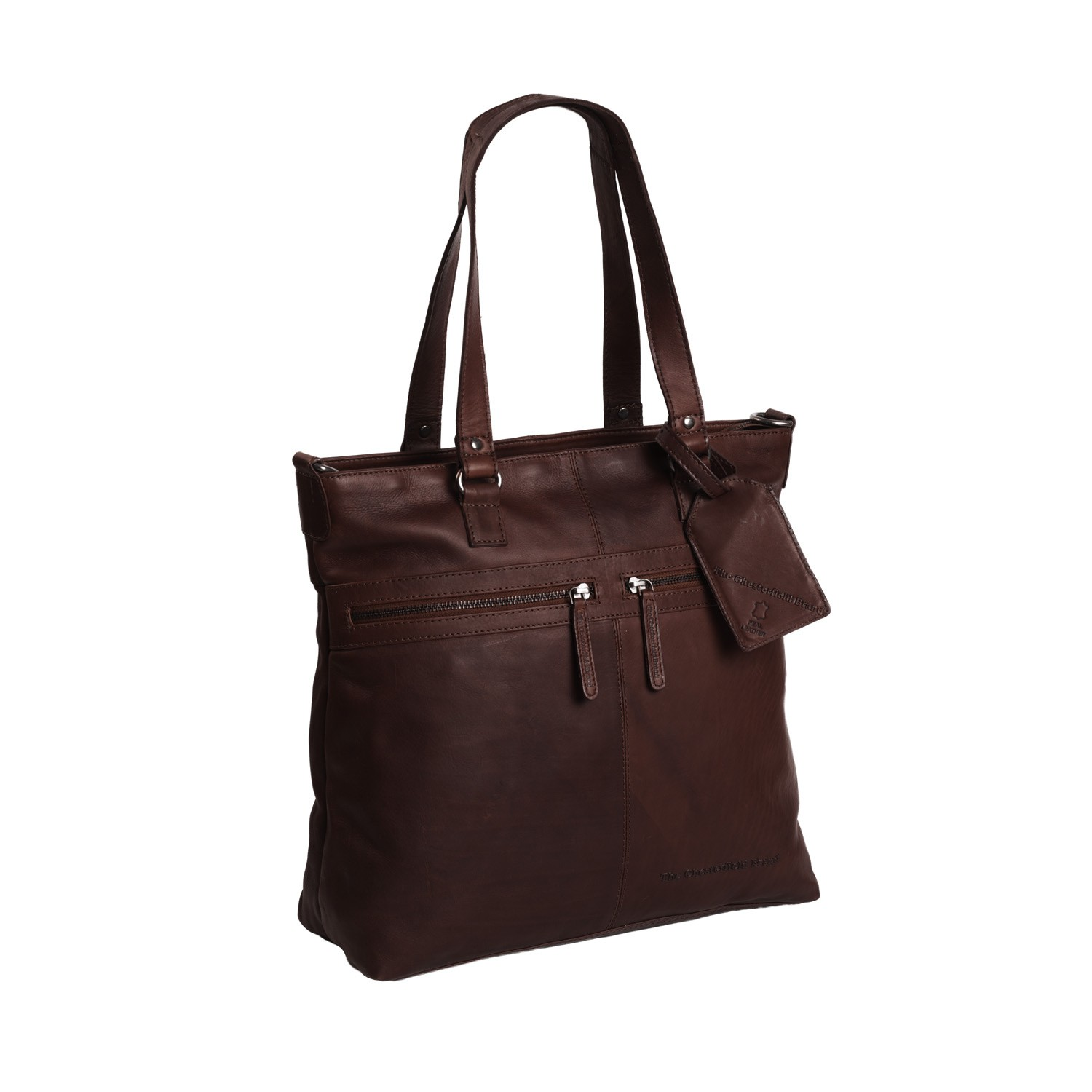 Bilde av Chesterfield Leather Shopper Dark Cognac Cleo