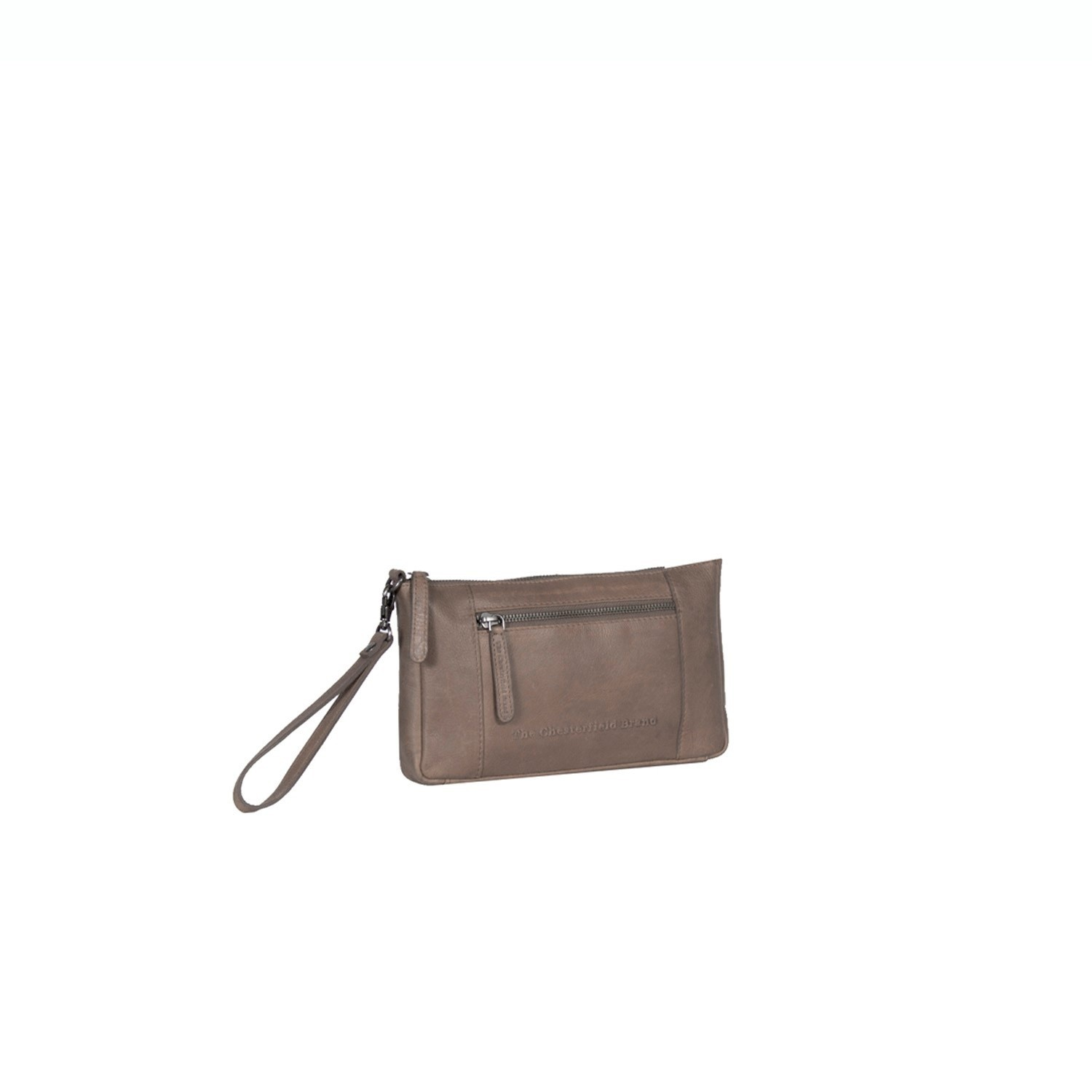 Bilde av Chesterfield Leather Clutch Taupe Sonia