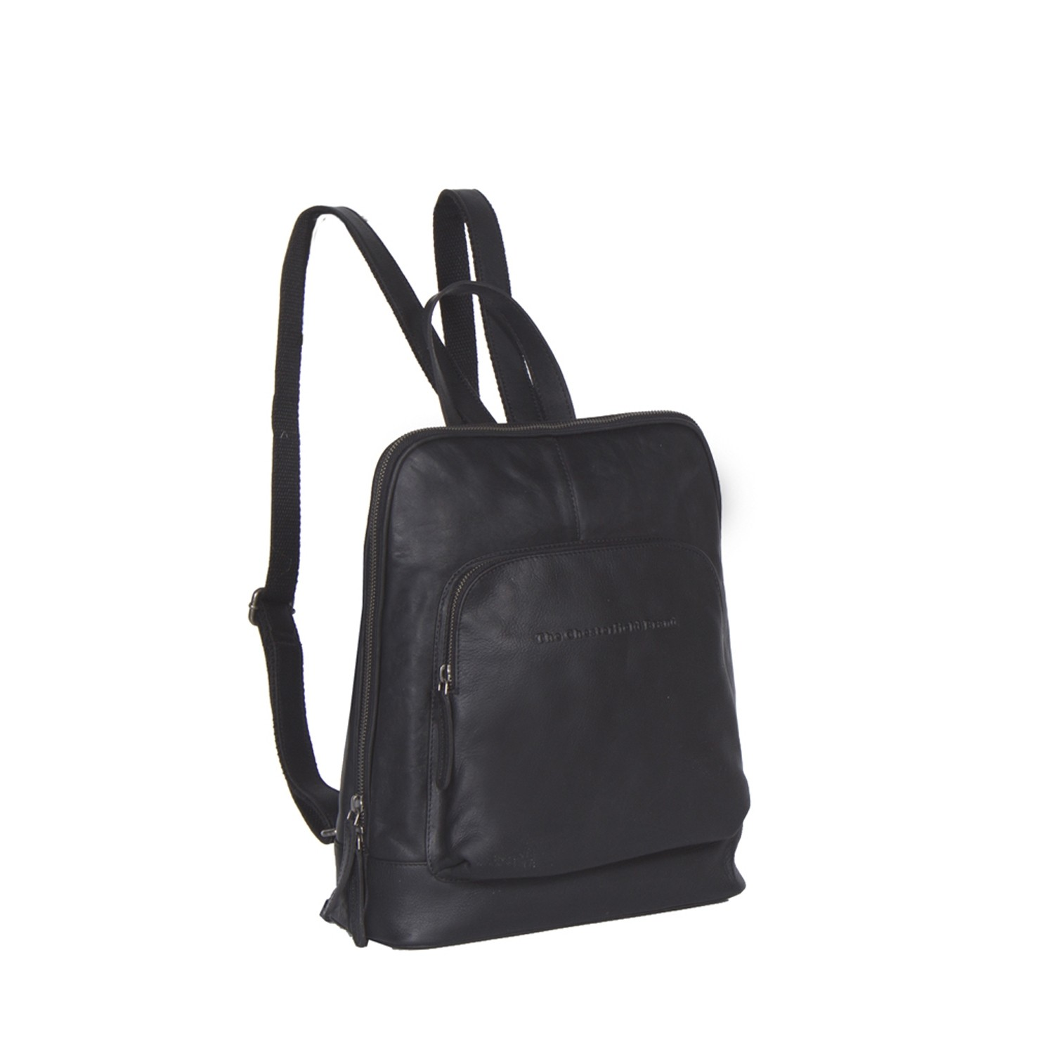 Image of Chesterfield Leather Backpack Black Naomi