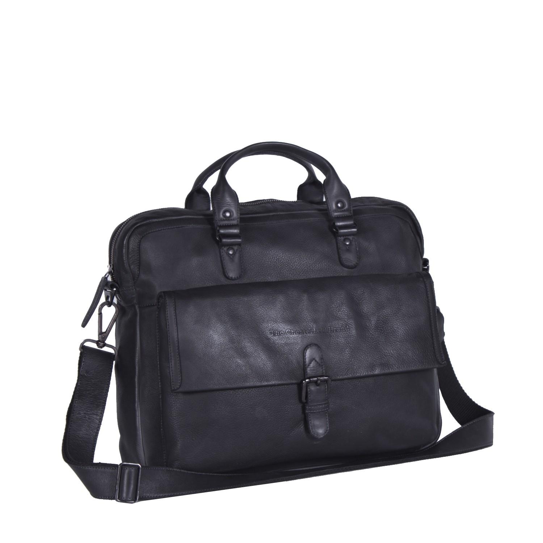 Imagem de Chesterfield Leather Laptop Bag Anthracite Black Label Steve