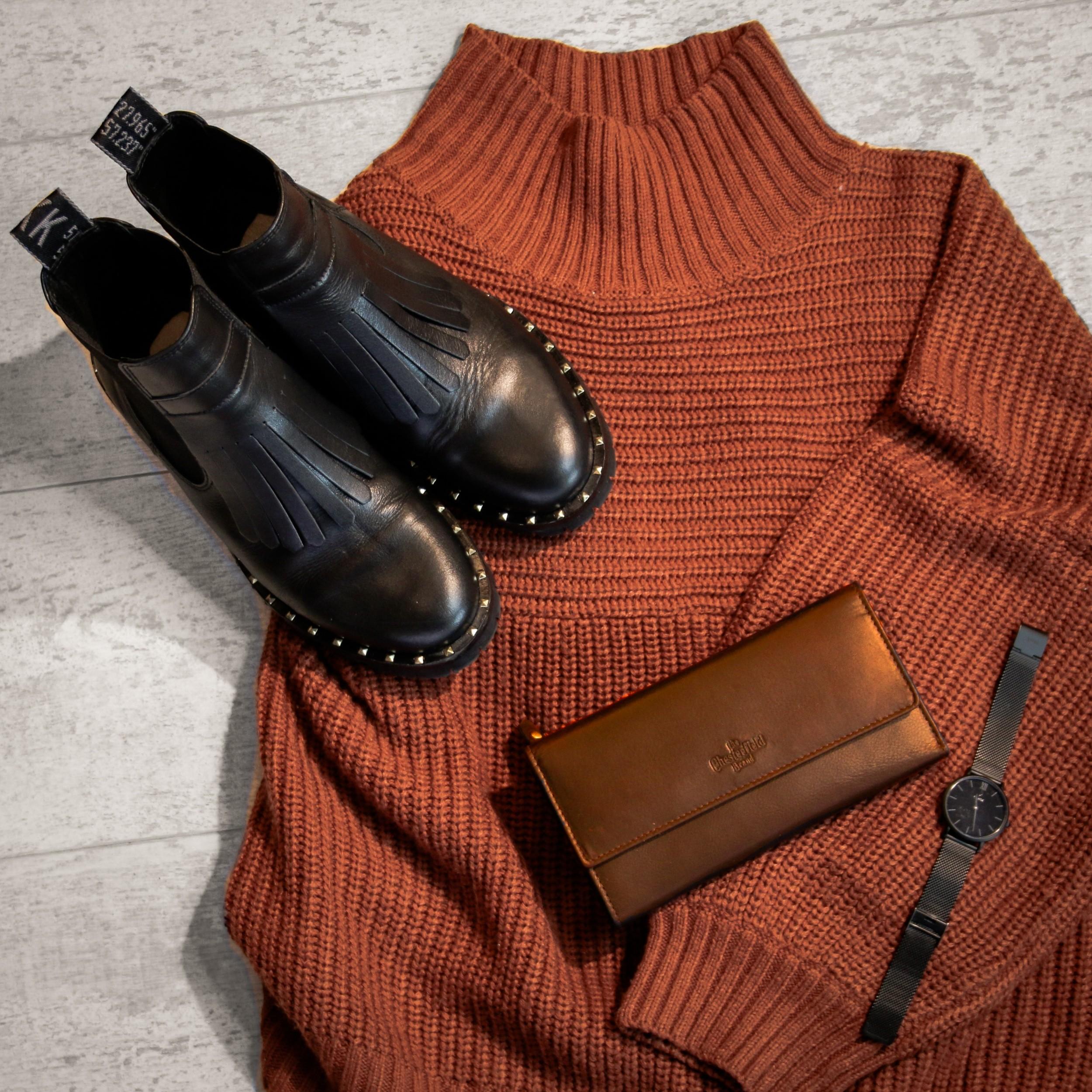 8bffe00d341 Leather Wallet Cognac Dahlia
